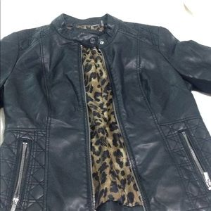 NWOT Black Leather Jacket